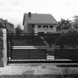 Откатные сварные ворота с поликарбонатом, Рязань