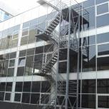 Производство металлической лестницы с ограждением., Рязань