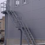 Изготовление наружной пожарной лестницы, Рязань