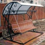 Качели садовые металлические цельносварные 4-местные, Рязань