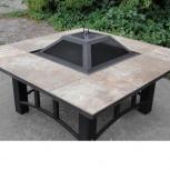 Костровой металлический стол-барбекю с крышкой (120x120х60 см), Рязань
